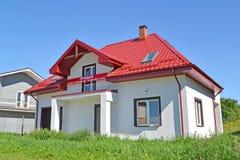 Kaliningrad region, Ryssland Jag ska sälja en ny stuga med ett baner Arkivbilder