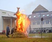 Kaliningrad, Rosja Palić wizerunek przy świętowaniem Maslenitsa w zoo zdjęcia stock