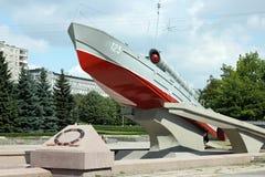 KALININGRAD ROSJA, SIERPIEŃ, - 21, 2011: Torpedowa łódź Komsomolets typ 123 bis jako zabytek druga wojna światowa Obraz Royalty Free