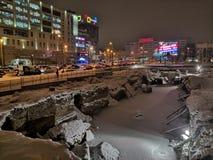 Kaliningrad Rosja, Styczeń, - 21, 2019: Ekskawacja antyczny kasztel obraz stock