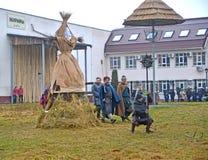 Kaliningrad, Rosja Wizerunek przy świętowaniem Maslenitsa w zoo fotografia royalty free