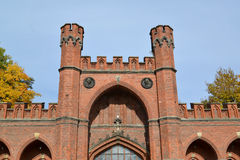Kaliningrad Rossgarten-Tore, Ansicht von unten Stockfotografie