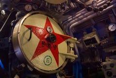 KALININGRAD, RUSLAND - JUNI 12 2017: Close-upmening van torpedoton Royalty-vrije Stock Fotografie