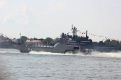Kaliningrad, Rusland - Juni 29, 2018: Dag van de Russische Marine Nationale Zeeparade in Baltiysk-stad royalty-vrije stock afbeeldingen