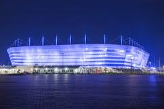 Kaliningrad, Rusland, 10 Juni, 2018: De arena van het voetbalstadion, waar er Wereldbeker 2018 zal zijn Royalty-vrije Stock Fotografie