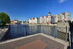KALININGRAD, RUSLAND - 13 kunnen 2017: mening van de Visserij van dorp - Culturele en etnografische complex, toeristische attract royalty-vrije stock foto