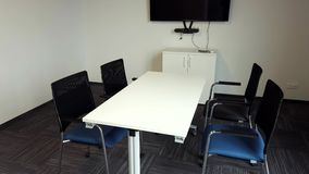 Meeting room interior in modern office stock video footage
