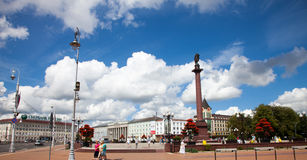 KALININGRAD, RUSSIA - 02 AUGUST, 2016: View of the Victory Square. Kaliningrad�s city center, Russia. Stock Photos
