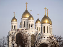 Kaliningrad, Russia. Cathedral of Christ the Saviour and church Stock Photo