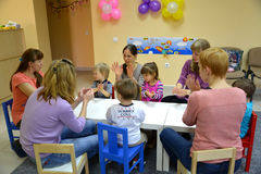 KALININGRAD, RUSSIA. The general game of childr Stock Photography