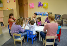 KALININGRAD, RUSSIA. Joint game of children wit Stock Photos