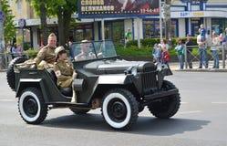KALININGRAD, RUSSIA - MAY 09, 2015: The car GAZ-67 ( Stock Photography
