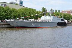 KALININGRAD, RUSSIA - MAY 16, 2015: The landing boat Stock Photos