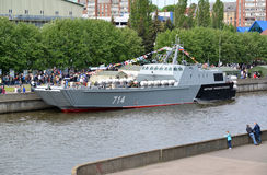 KALININGRAD, RUSSIA - MAY 16, 2015: The landing boat Royalty Free Stock Image