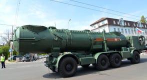 KALININGRAD, RUSSIA - MAY 09, 2015: A missile system of coastal Royalty Free Stock Photo