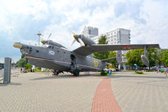 KALININGRAD, RUSSIA. The military Tea Be-12 amphibian in the territory of Museum of the World Ocean Stock Photo