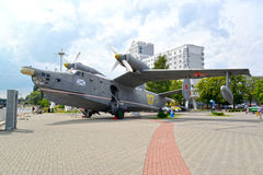 KALININGRAD, RUSSIA. The military Tea Be-12 amphibian in the territory of Museum of the World Ocean Royalty Free Stock Photo