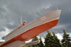 KALININGRAD, RUSSIA. Monument-torpedo boat GP 123 Komsomol member Stock Photography
