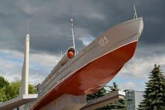 KALININGRAD, RUSSIA. Monument-torpedo boat GP 12 Komsomol member Royalty Free Stock Photography