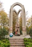 Monument to the victims of local conflicts. KALININGRAD, RUSSIA - OCTOBER 19, 2017: Monument to the victims of local conflicts royalty free stock photo