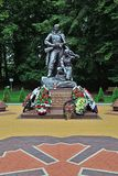 Kaliningrad, Russia - September 18, 2013: monument to soldiers-scouts in victory Park, tourist attraction of the city stock photos