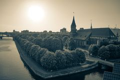 Kaliningrad, Russia. The urban landscape in vintage style Stock Photography