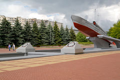 KALININGRAD, RUSSIA. View of the Memorable sign to seamen-Baltic Fleet sailors Royalty Free Stock Images