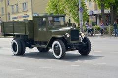 KALININGRAD, RUSSIE - 9 MAI 2015 : Le camion de ZIS-5B ( Photographie stock libre de droits