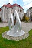 Kaliningrad, Russie Un signe mémorable en l'honneur de l'anniversaire 100 de la bataille de Gumbinnensky contre le museu historiq photos libres de droits