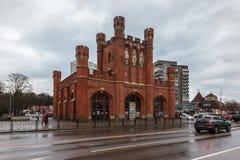 Kaliningrad, Russische Federatie - 4 Januari, 2018: De Koninklijke Poorten stock afbeelding