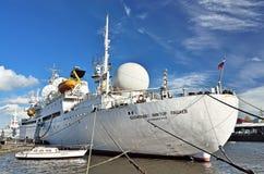 KALININGRAD, RUSSLAND - 23. APRIL 2017: Schiff der Raumkommunikation Stockbilder