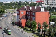KALININGRAD, RUSSLAND - 21. AUGUST 2011: Das historische Gebäude des jüdischen Waisenhauses Stockbilder
