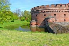 Kaliningrad, Russland Fragment eines Turms Nachmittages Der Don im Frühjahr Lizenzfreies Stockbild