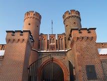 Kaliningrad, Russland Fridrikhsburgsky-Tor, Ansicht von unten Lizenzfreie Stockfotografie
