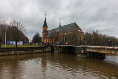 Kaliningrad rysk federation - Januari 4, 2018: Kant Museum arkivfoton