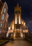 Kaliningrad rysk federation - Januari 4, 2018: Kirch helgedomfamiljer Arkivfoto
