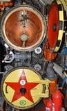 Kaliningrad Ryssland Ett fragment av ett torpedrum av ubåten B-413 i museet av världshavet Fotografering för Bildbyråer