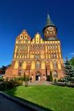 Kaliningrad Ryssland - kan 13, 2017: turister som besöker domkyrkan av Koenigsberg, gotisk kyrka av det 14th århundradet arkivfoto