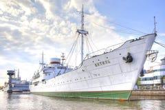 Kaliningrad Territoriet av museet av världshavet res royaltyfria foton
