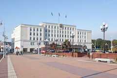 Kaliningrad. Victory Square. City Hall Stock Photo