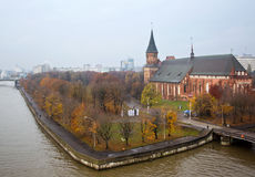 Kaliningrad. A view of the Kant Island from Cathedral Royalty Free Stock Photos