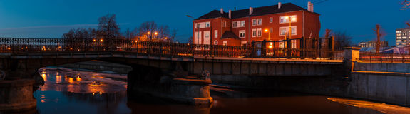 Kaliningrad. View of the pedestrian bridge (Honigbrücke) Stock Photo