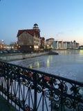 Kaliningrad w wieczór fotografia stock