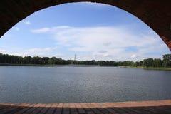 Kaliningrad: widok Górny jezioro Obraz Royalty Free
