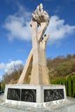 Kaliningradgebied, Rusland Monument aan de 'slachtoffers van het Moeras van dood dichtbij Konigsberg 1945, 'Holocaust ' royalty-vrije stock fotografie