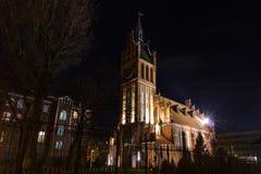 Kaliningrado, Federación Rusa - 4 de enero de 2018: Familias santas de Kirch Imagen de archivo libre de regalías