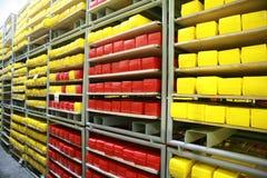 KALINKOVICHI, WEISSRUSSLAND - 22. September 2011: Mähdrescher für die Produktion des Käses Maschinen, Mechanismen und Ausrüstung Stockfoto