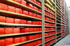 KALINKOVICHI, WIT-RUSLAND - September 22, 2011: Combineer voor de productie van kaas Machines, mechanismen en materiaal stock foto