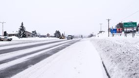 Kalispell Blizzard Royalty Free Stock Photography