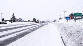 Kalispell häftig snöstorm royaltyfri fotografi